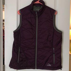 LL Bean Primaloft Packaway Vest Size L